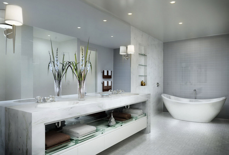Modern Bathrooms. Image For Marvelous Small Modern Bathroom Ideas ...
