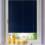 luxurious navy blue blind design for kitchen with purple frame and yellow decoration above the kitchen cbainet