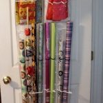 Make Over An Over The Door Shoe Holder From Plastic Use For Storing And Organizing Gift Wraps Hang On White Door