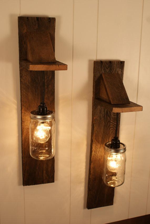 Wooden Wall Fixtures : Wooden light fixtures that will brighten your room