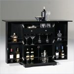 mini home bars ikea with great storage for wine and glasses in black finishing