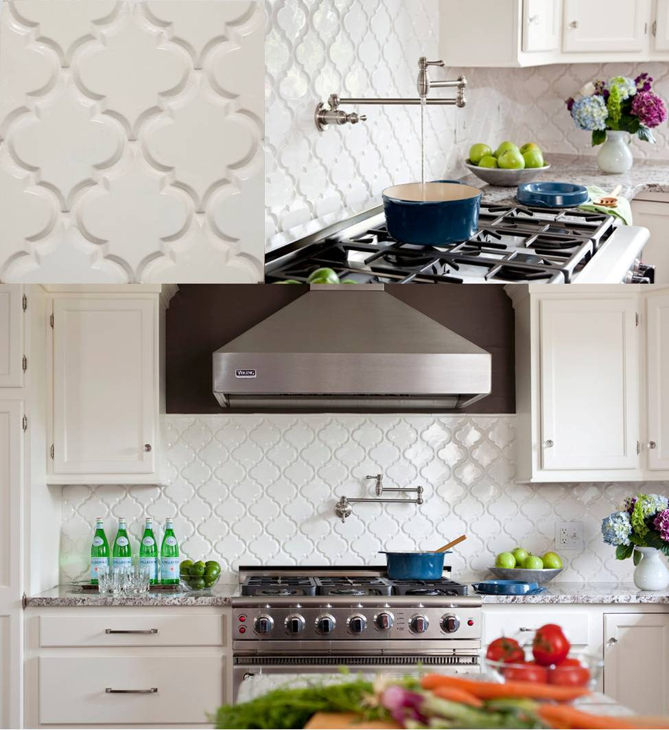 Create Thrilling Ambience In Your Kitchen With Beveled Arabesque Tiles