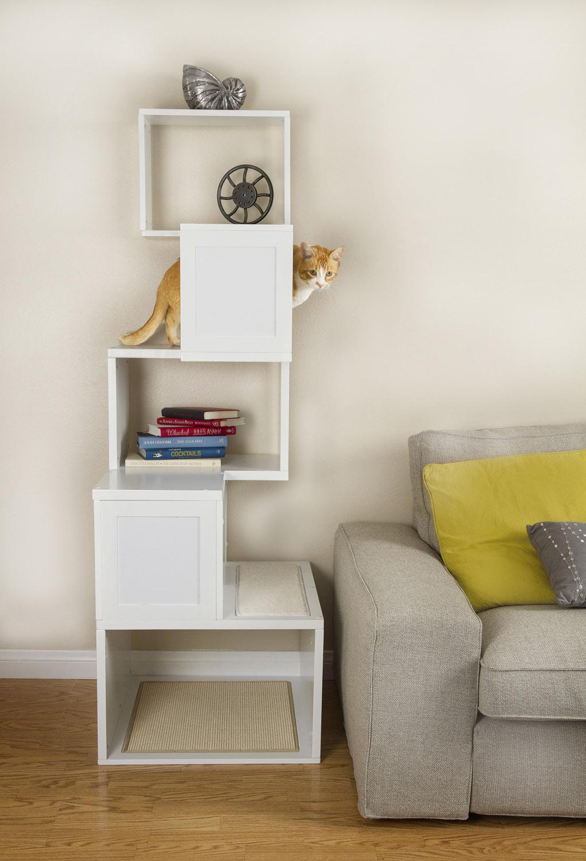 Modern White Contemporary Cat Furniture