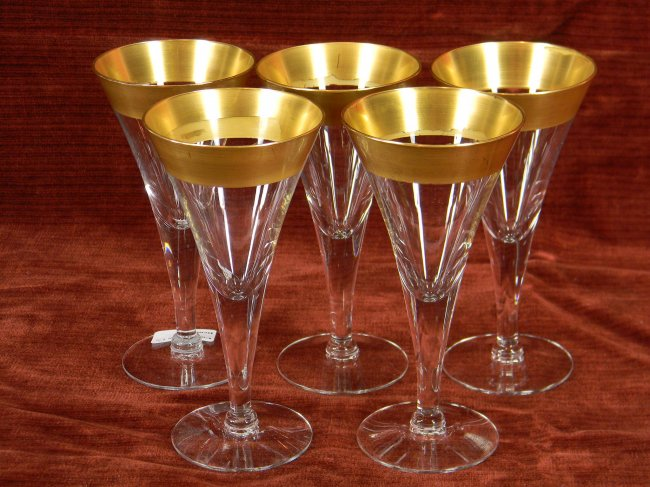 Nice Gold Rimmed Wine Glasses With Vintage Style Homesfeed
