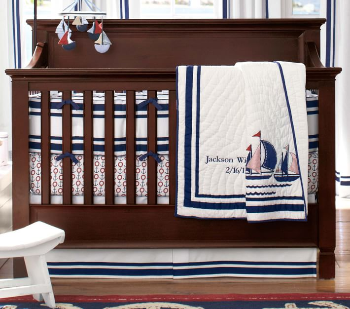 Crib Sheets For The Babies At Pottery Barn Homesfeed