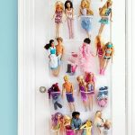 Over The Door Shoe Holder From Plastic Use For Storing And Organizing Fashion Dolls And Other Small Toys In The Kids Room