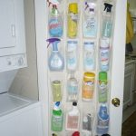 Over The Door Shoe Holder From Plastic Use For Storing And Organizing The Cleaning Supplies In The Laundery Room Hang On White Door