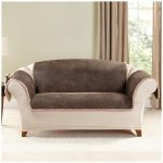 Pet Throw Love Seat Slip Covers Decorated On The Gorgeous Sofa For Living Room With Brown Drapes On The Windows Featuring Large Area Rug