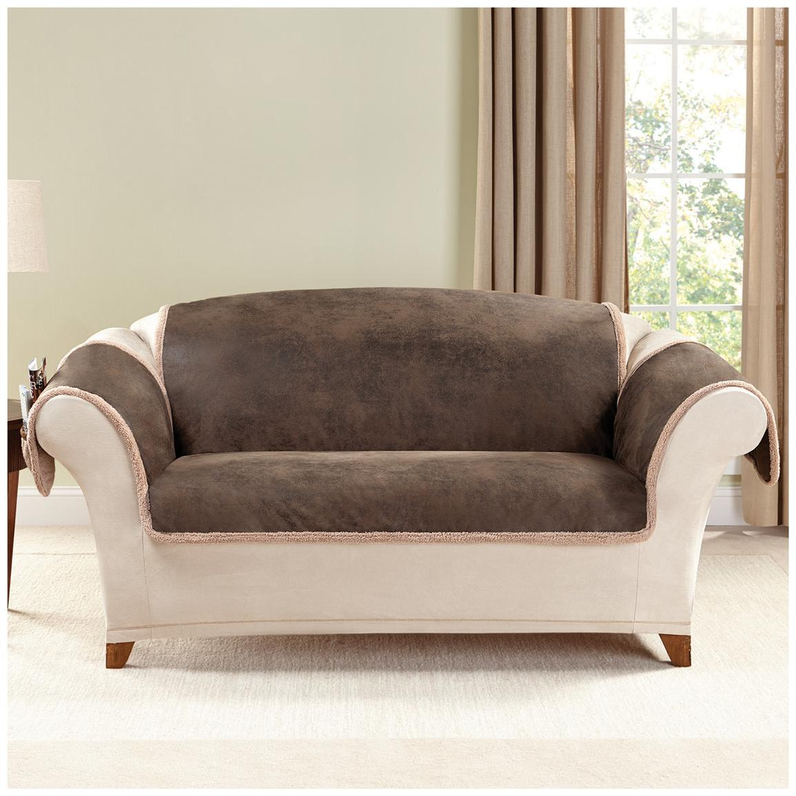 Pet Throw Love Seat Slip Covers Decorated On The Gorgeous Sofa For Living Room With Brown