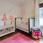 pink-elephant-storage-bin-by-3-sprouts-near-window-and-white-and-brown-crib-on-the-wooden-flooring-and-near-pink-rug