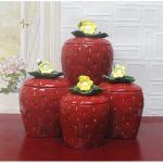 red-kitchen-canister-set-the-3D-strawberry-canisters-set-of-four-made-of-glazed-ceramic-and-the-lids-have-neoprene-plastic-seals