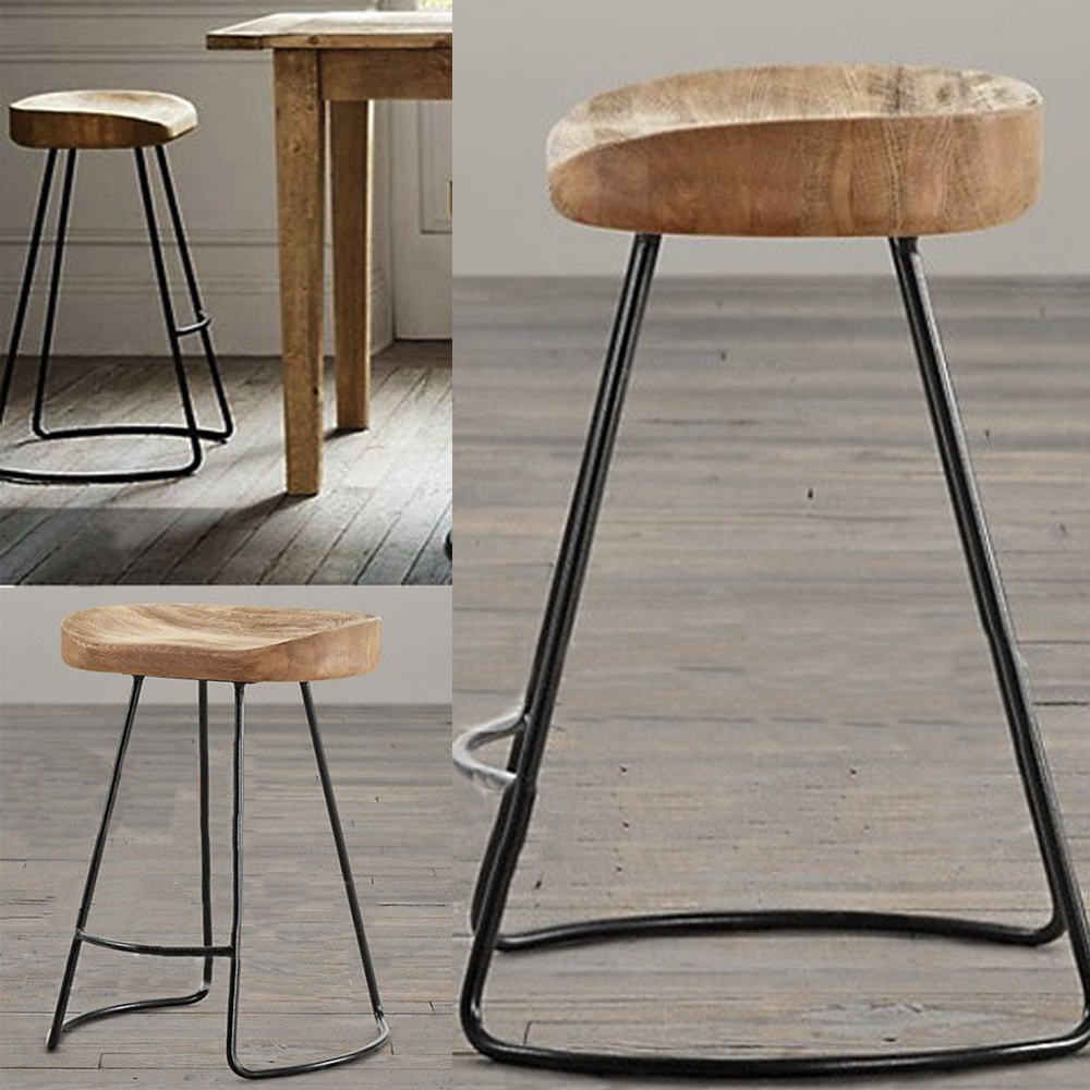 Retro Or Vintage Metal Bar Stools With Stunning Frame Together With  Hardwood Floor And Hard Wooden