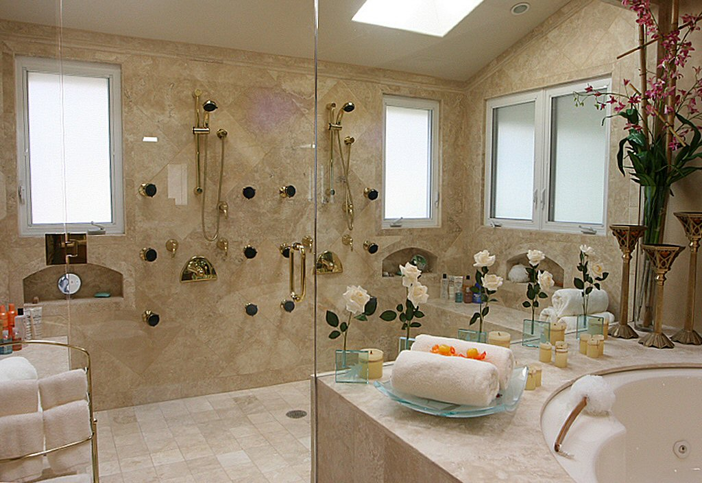 Elegant shower ideas for master bathroom homesfeed for Master bathroom design ideas