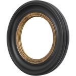 round black and golden small convex mirror for home accessories