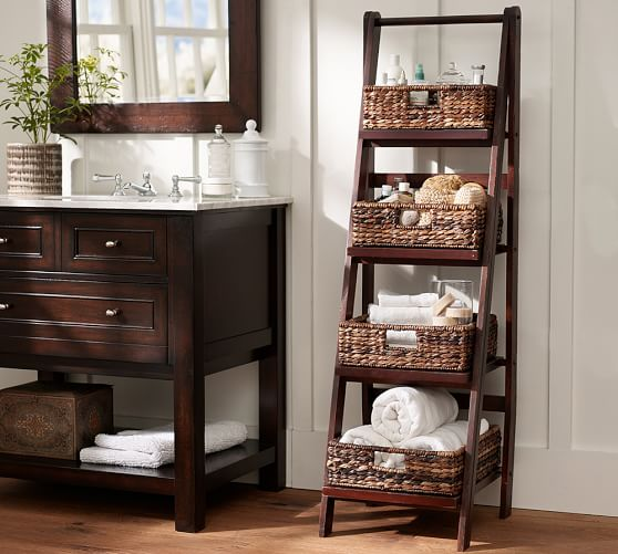 Nice Ladder Shelves At Pottery Barn Homesfeed