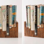simple and elegant cool bookshelves idea made of wooden material in carved style