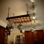 simple and gorgeous with track lighting fixture plus stainless steel kitchen stuff pu