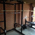 simple home gym essentials together with brick wall