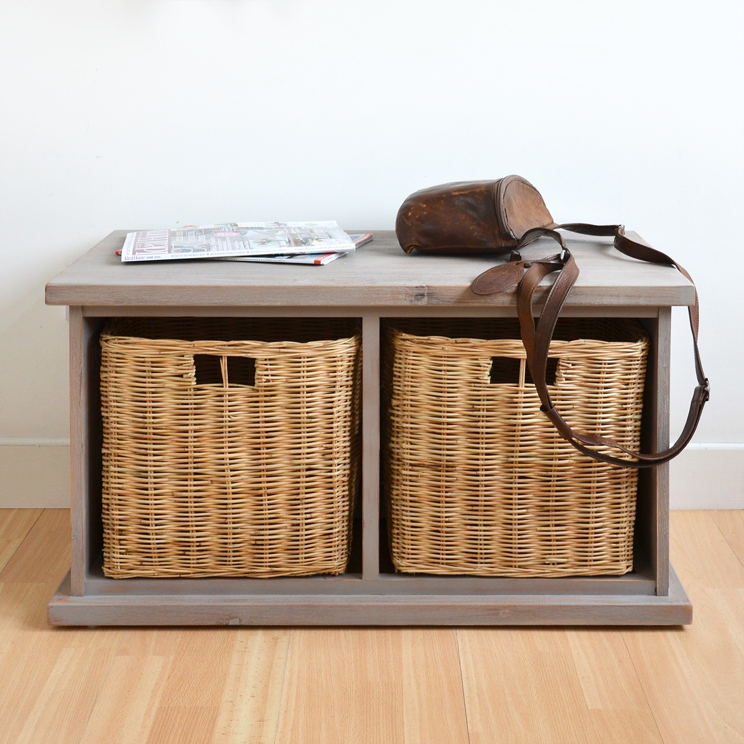 Small Bench With Storage For Entryway Storage And Stylish: shoe basket for entryway