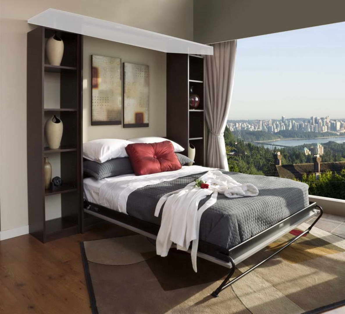 Comfortable bedroom design with murphy bed kit lowes for Comfortable bedroom ideas