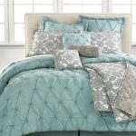 stunning turquoise california king bed comforter set idea with gray accent with diamond pattern