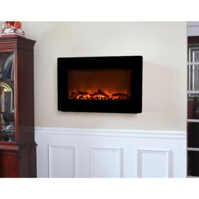 Cozy Living Room with Electric Fireplace from Home Depot