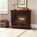 the-Derry-compact-infrared-electric-fireplace-form-Hamptom-Bay-with-remote-control-and-hand-finished-wood-veneers-also-with-5-various-temperature-settings-in-cherry