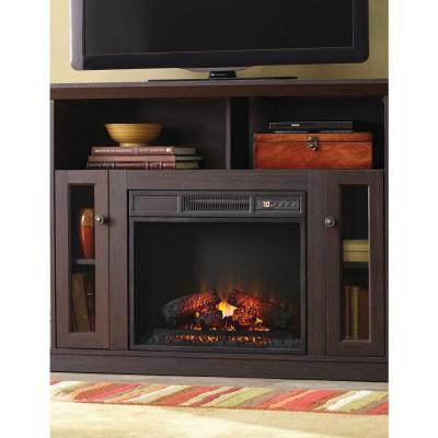 Cozy Living Room With Electric Fireplace From Home Depot Homesfeed