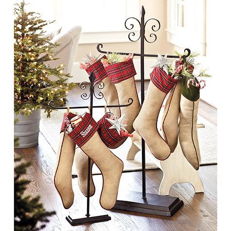 charming christmas stocking holder stands homesfeed. Black Bedroom Furniture Sets. Home Design Ideas