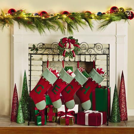 the charming wreath freestanding christmas stocking holder stand