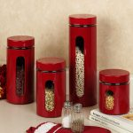 the-palladian-red-window-kitchen-canister-set-and-set-of-four-features-clear-window-with-red-color-to-brightens-kitchen-area-and-twist-off-lids-are-airtight