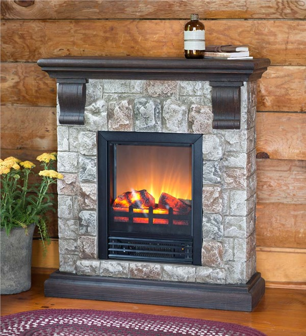 and lightweight and easy to move faux stone electric fireplace