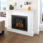 the-silverton-electric-fireplace-in-white-by-the-real-flame-with-ultra-brught-LED-technology-with-5-brightness-settings-and-solid-wood-and-veneered-MDF-construction
