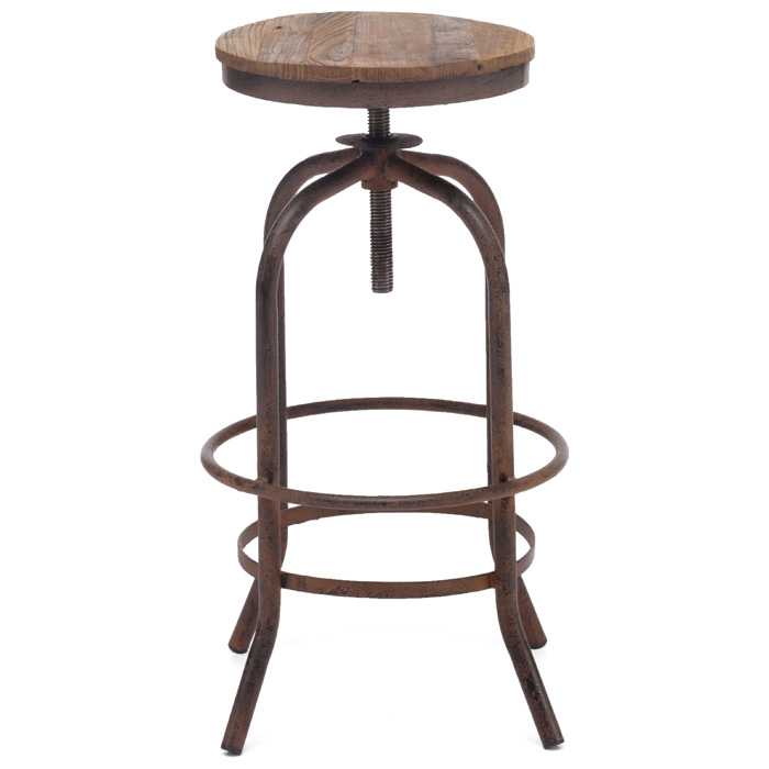 Traditional Vintage Metal Bar Stools