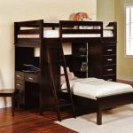 twin-loft-bed-brown-with-desk-and-storage-also-chair-and-pictures-hang-on-white-wall-also-wooden-floor-and-white-carpet