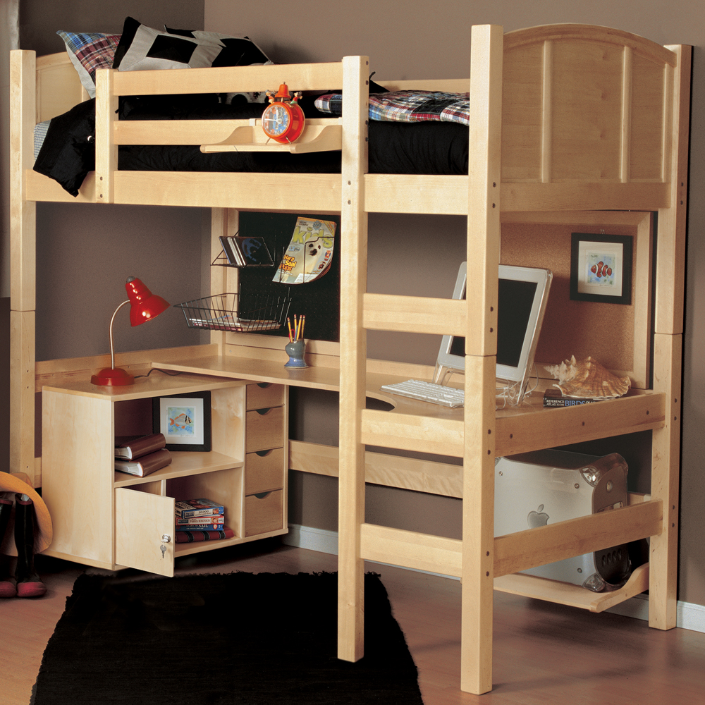 The advantages of twin loft bed with desk and storage for Loft furniture