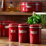 typhoon-vintage-red-kitchen-canister-set-with-high-quality-colour-coated-steel-also-an-airtight-silicone-seal-lid-features-3-storage-tins-with-800ml-capacity