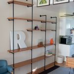 Unique Diy Wall Shelves Idea Made Of Black Iron Pipe With Wodoen Board In  A Living Room With Wall Picture Gallery