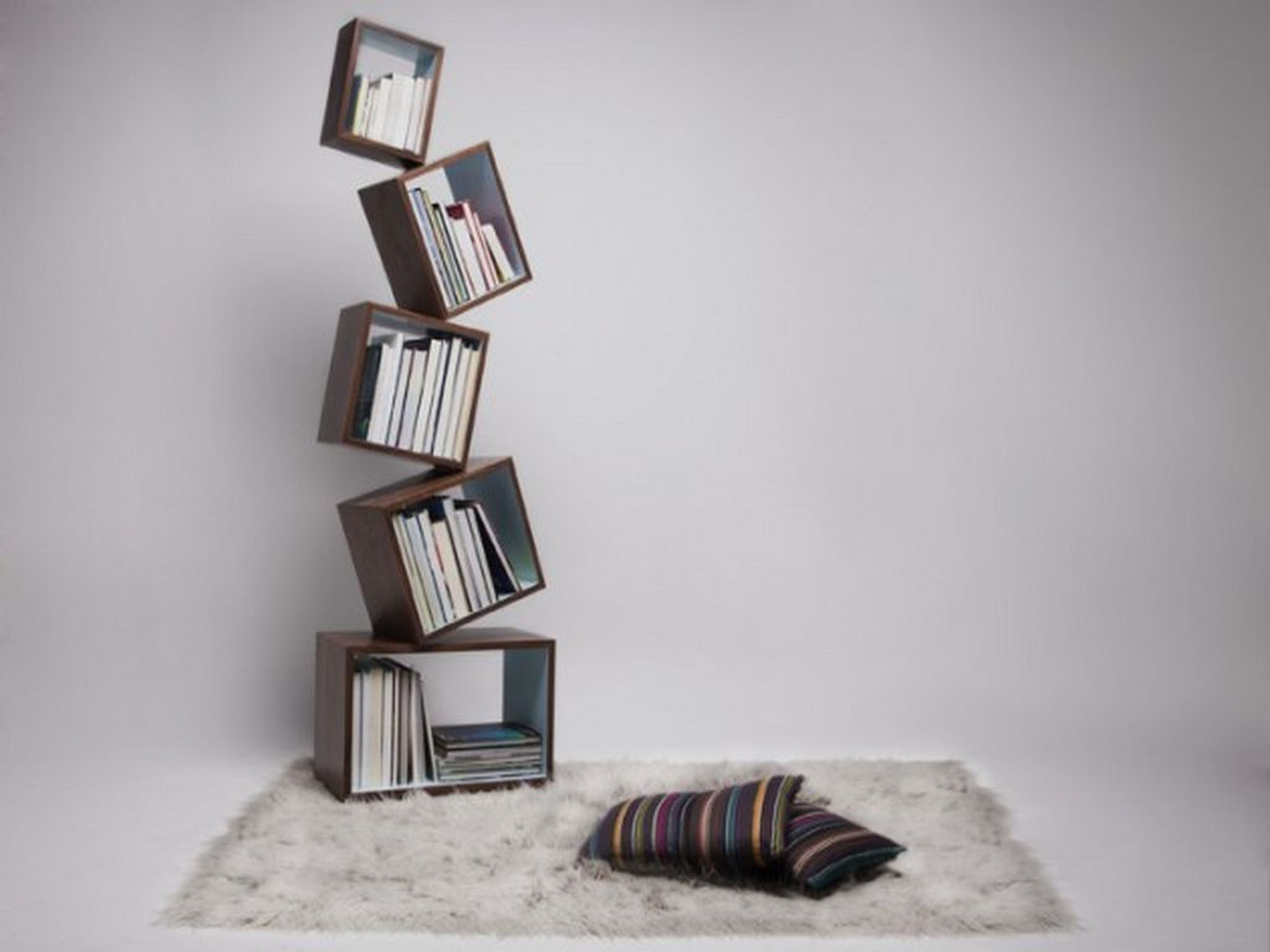 Wide selection of cool bookshelves design for your for Beautiful bookshelves design
