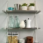 unique stainless steel floating shelf for pottery snacks indoor plant and gasses with white stand