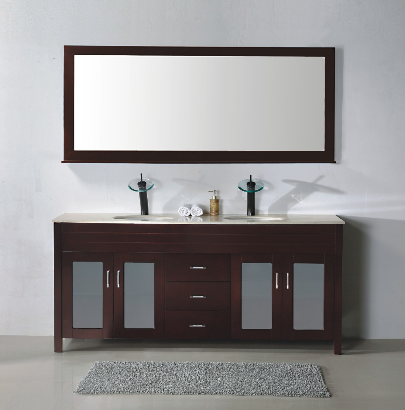 Images of bathroom vanities that will make you fall in for Long black wall mirror