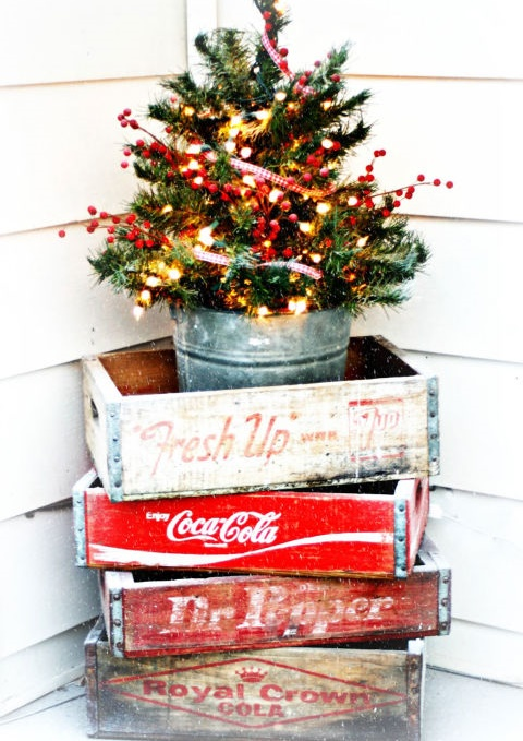 vintage outdoor christmas decoration with some vintage soda - 1950s Outdoor Christmas Decorations
