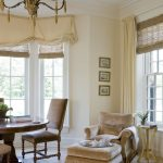 wide window treatments for bay windows together with valances and drapes feat upholstered armchair plus stunning leather dining chair