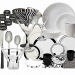 Wnderful Dinnerware Design Ida With Black And White Theme On Table