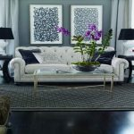 wonderful and classy white leather tufted sectional sofa clearance with classy coffee table with glass top together with vintage armchair and ottoman