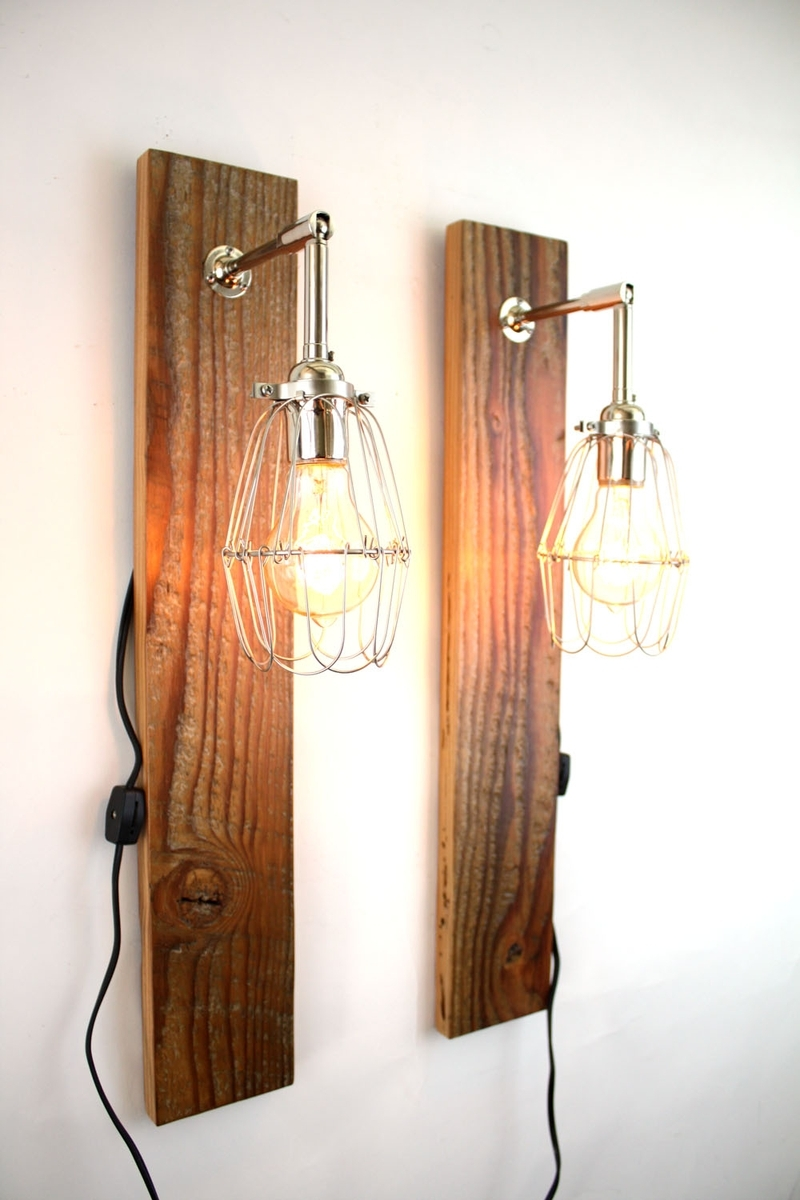 Wooden light fixtures that will brighten your room for A lamp and fixture