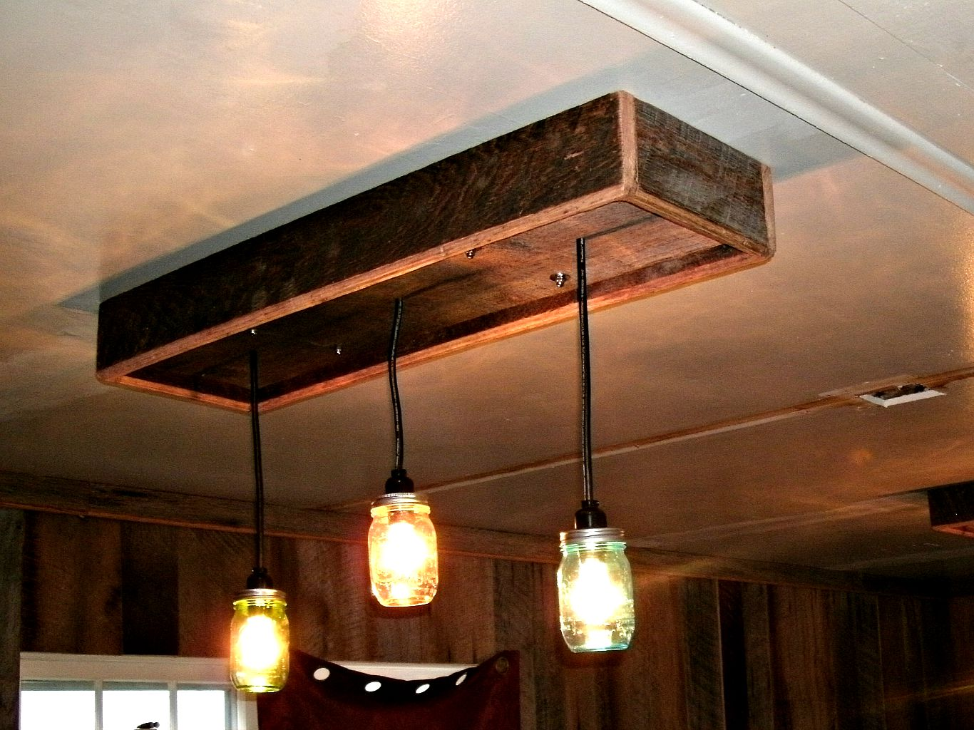 Wooden Light Fixtures 2 on Modern Home Bar Table