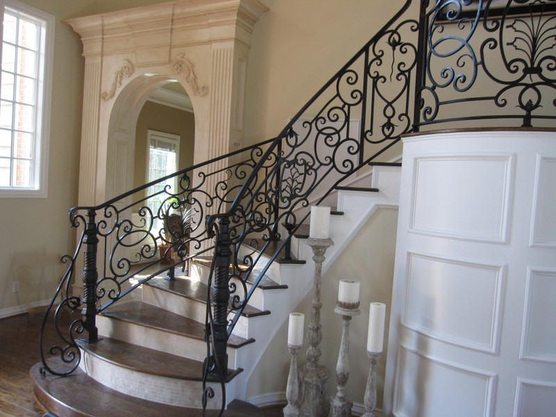 Wrought Iron Stair Railings Interior In Black For Creating Classy Home  Interior