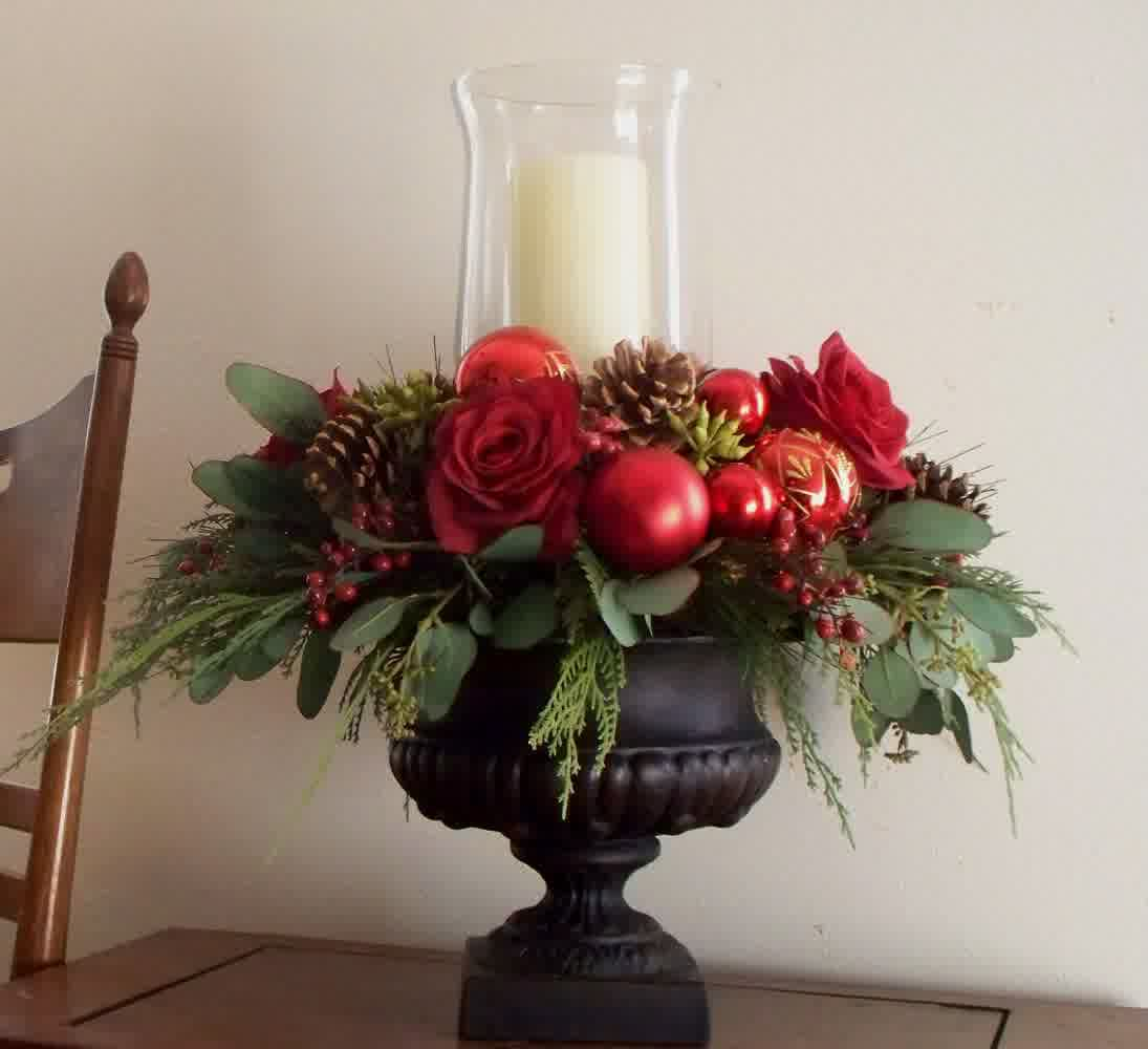Christmas Centerpieces With Candles HomesFeed