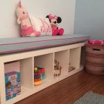 Adorable Bench Cushions Ikea For Girl With Storage And Dolls